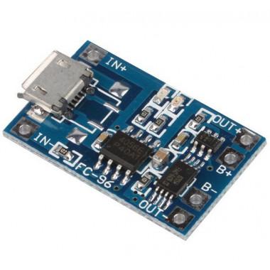 Модуль зарядки АКБ Micro-USB