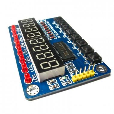 TM1638 LED&KEY Модуль дисплея с кнопками и светодиодами