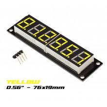 LED Дисплей 8 азрядный желтый TM1637 десятичный