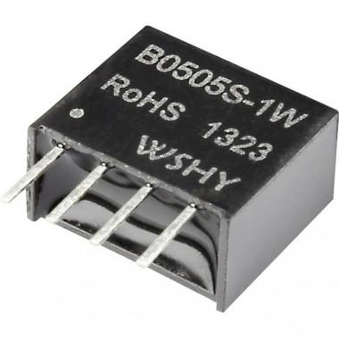B0505 DC/DC преобразователь, 1Вт, вход 4.5-5.5В, выход 5В/200мА